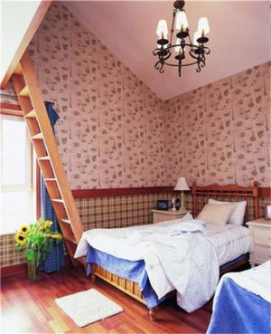 阁楼双人美式儿童房