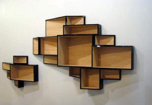 创意书柜家具设计