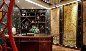 古典居室中式书柜