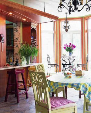 欧式田园餐桌