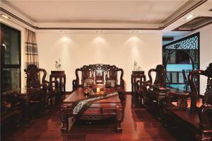 简易中式沙发