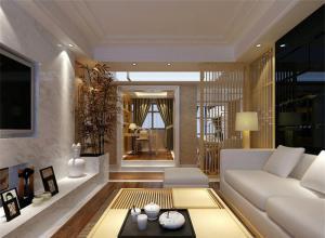 简约客厅隔断柜设计