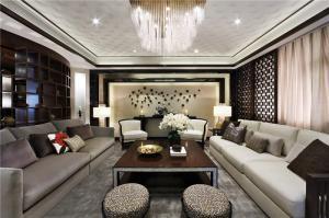 客厅整体电视背景墙效果图2017