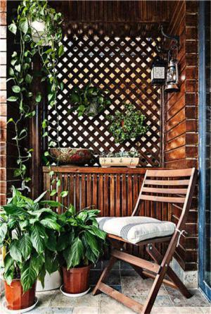 美式风格阳台效果图防腐木设计