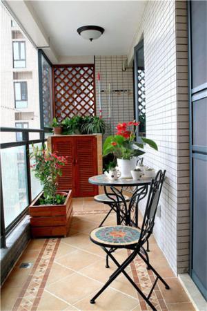 美式风格阳台效果图设计案例