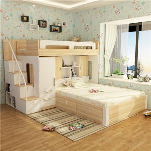 多功能少年儿童房设计上下床