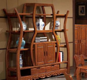 新中式酒柜全实木家具定制