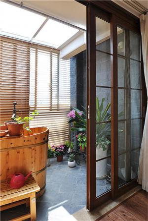 别墅阳台外观效果图浴缸