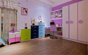 多彩儿童房窗帘效果图
