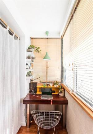 阳台书柜书桌组合定制
