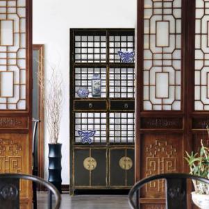 新中式书柜雕花家具