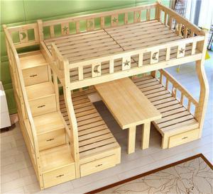 双层上下床带书桌床
