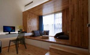 实木地台床小户型阳台榻榻米
