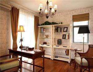 简欧书房装修效果图整套家具定制