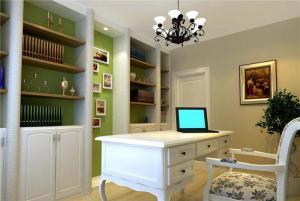 美式书房装修效果图家具搭配