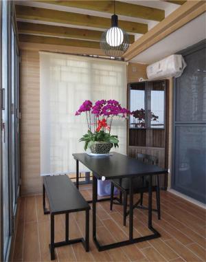 阳台改餐厅效果图家具定制