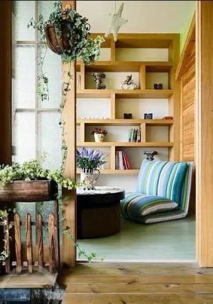 阳台改书房效果图装修方案