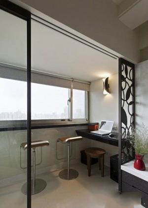 阳台改书房效果图家具图片