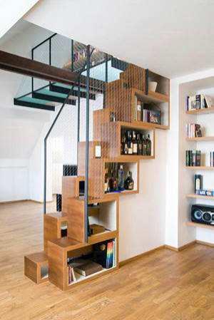 楼梯设计成书柜设计图