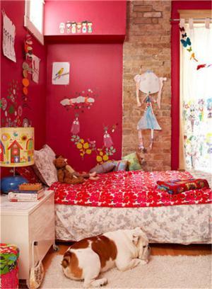 儿童房背景墙壁画搭配