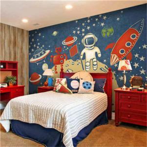 儿童房颜色创意壁画