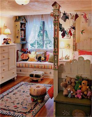 美式女孩儿童房家具
