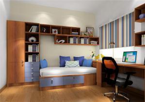 书房现代榻榻米房间订制家具