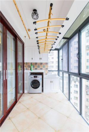 阳台改造效果图洗衣池设计装修