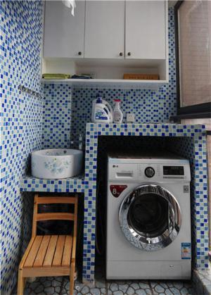 洗衣机放阳台效果图图片分享