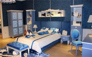 蓝色儿童房装修效果图男孩