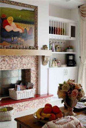 欧式搭配小户型客厅书柜