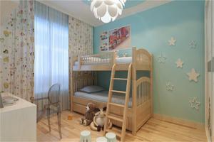 有趣儿童房双层床效果图