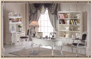 法国欧式书桌书柜组合