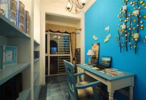 地中海蓝色书柜设计图