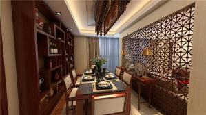 中式酒柜餐厅搭配