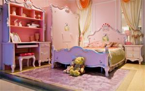 紫色儿童房颜色