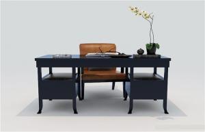中式书桌精品模型