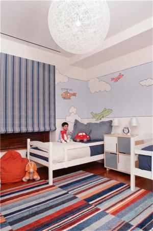 儿童房窗帘效果图家具设计
