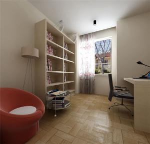 小书房装修风格板材家具定制