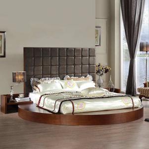 地台实木圆床榻榻米