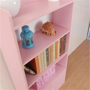 粉色立式书柜