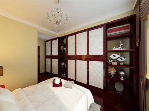 小清新美式卧室衣柜