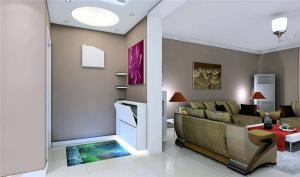 新古典客厅屏风柜
