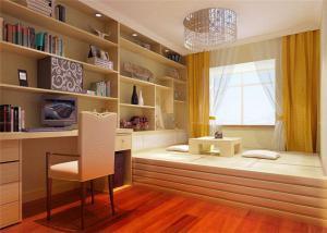 现代日式榻榻米书房装修效果图