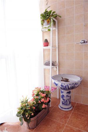 阳台洗衣池效果图青花瓷洗衣池