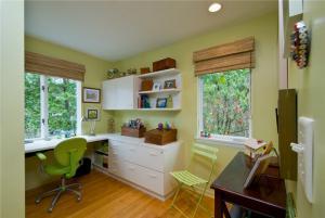 飘窗改造小孩书房装修效果