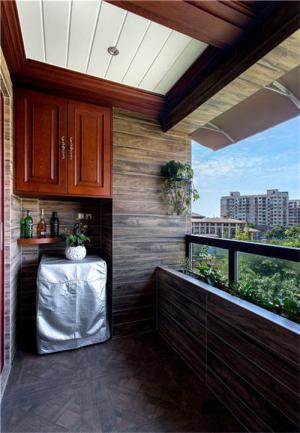高层阳台封闭效果图洗衣台