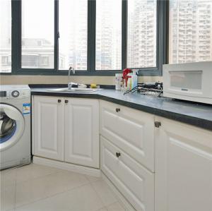阳台改厨房效果图家具定制