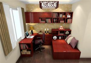 红木现代榻榻米房间