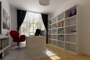 现代简约书房装修效果图板式整体家具